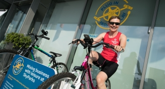 Charge your mobile while keeping fit using pedal power at SkyParks
