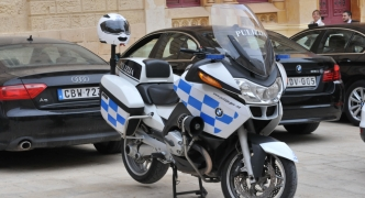 Police officer grievously injured after motorcycle collided with car