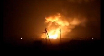 20,000 evacuated after arms depot blast in Ukraine