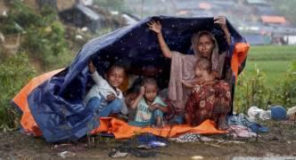 Monsoon rain adding to Rohingya camp misery