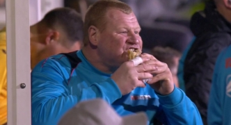 Sutton's pie-eating goalie gets the sack