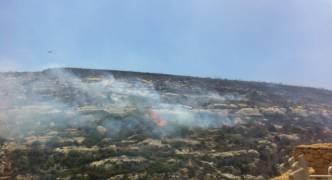 Brushfire spotted in Ta' Cenc Natura 2000 site
