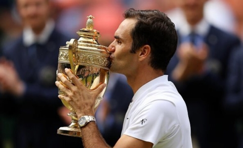 Federer wins record 8th Wimbledon title