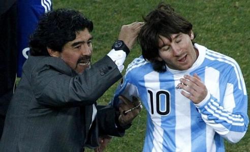 Messi was 'five times better' under me - Maradona