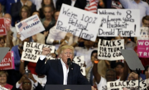 Donald Trump renews attacks on media, courts in 'rally for America'