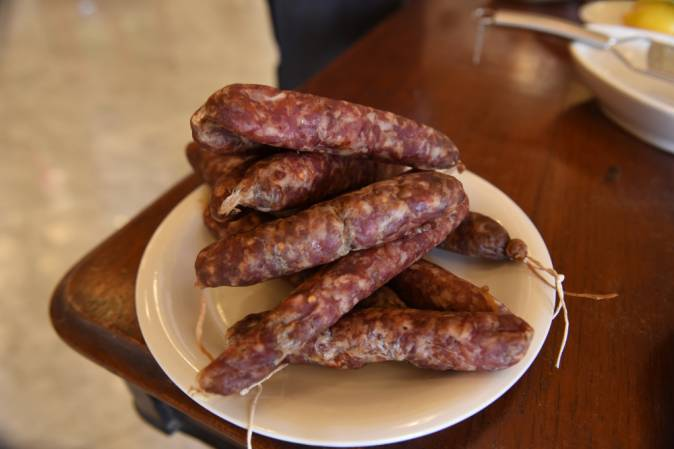 Salted meat sausage was a staple of the Maltese peasantry