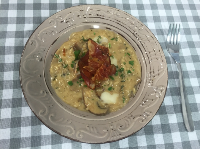 Risotto with mixed mushrooms and Taleggio