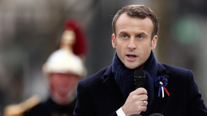 Macron urges world leaders to reject nationalism