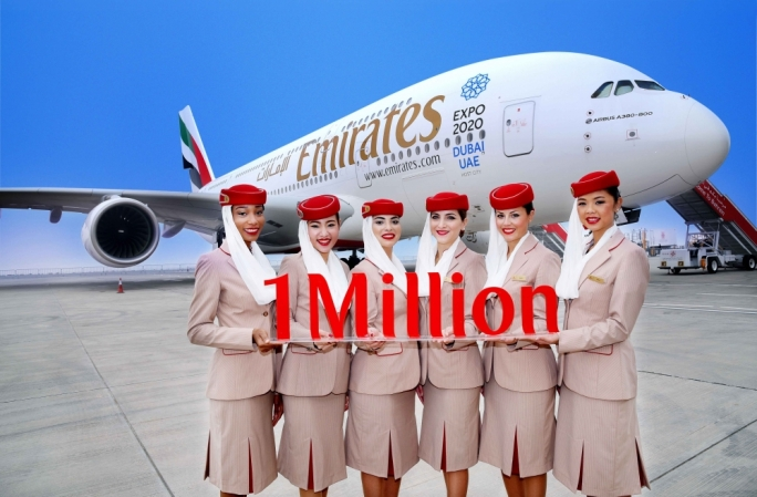 Emirates becomes world's first airline with a million Instagram followers