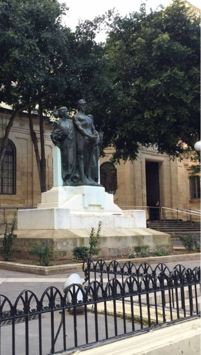 The memorial for journalist Daphne Caruana Galizia has been removed.