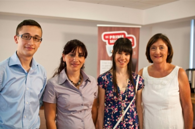 The four finalists, including winner Marija Hammett (second from left)
