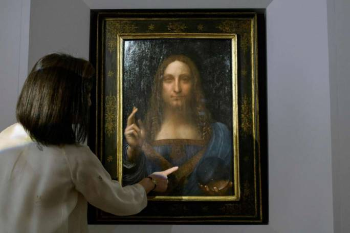 Salvator Mundi, the long-lost Leonardo da Vinci (Photo: Houston Chronicle)
