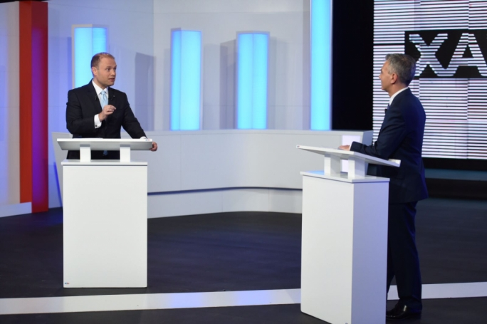 Prime Minister Joseph Muscat and Opposition leader Simon Busuttil (Photo: James Bianchi/MediaToday)
