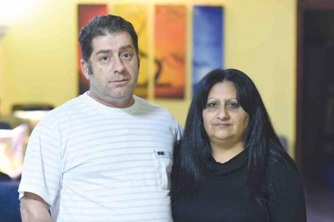 Cancer survivor Stephen Zammit and his wife Nathalie