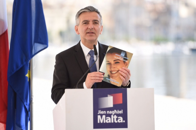 PN leader Simon Busuttil insisted Marlene Farrugia was a woman of principles. Photo: James Bianchi/MediaToday