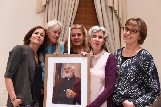Inga Boissevain (second from left) and her children: Anna, Maria, Licia, and Ieneke. Photo and Video by Ray Attard