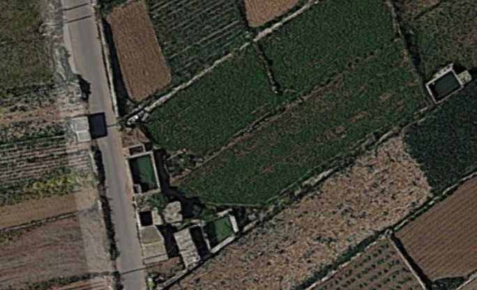 Google Maps screenshot of the five rooms once leased out in 1915, on the road leading to Ghajn Tuffieha and Manikata