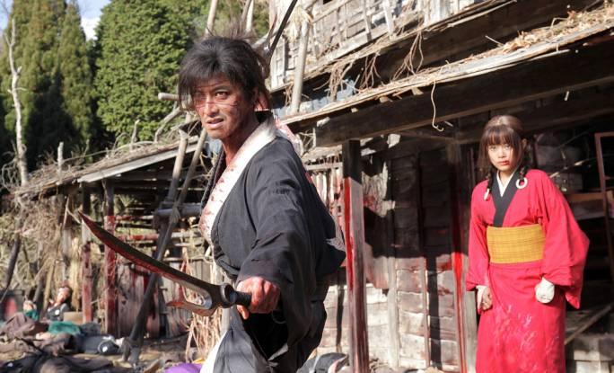 Lone Wolf and Cub...ish: Takuya Kimura as Manji and Hana Sugisaki as Rin Asano in Takashi Miike's 100th feature film