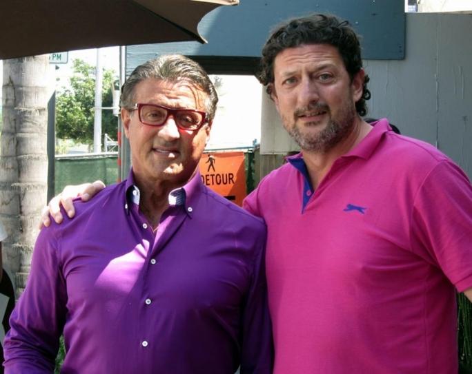 Maltese actor Manuel Cutajar met international star Sylvester Stallone