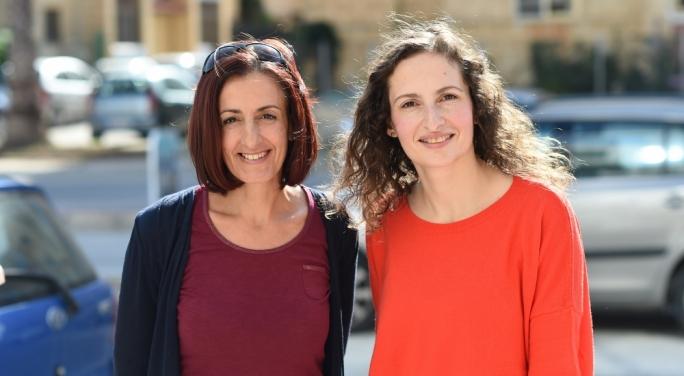 Anti-embryo freezing campaigners Martha Fitz and Suzanne Vella