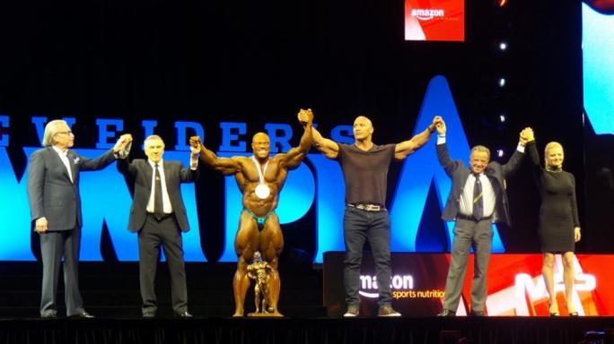 Phil Heath celebrates his sixth Mr. Olympia title
