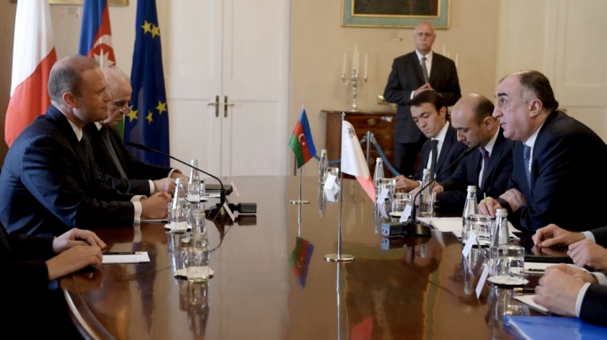 Azerbaijani foreign minister Elmar Mammadyarov in a meeting with Prime Minister Joseph Muscat earlier this week