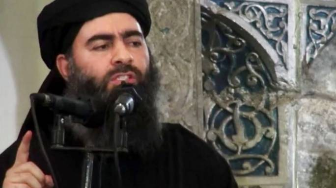 ISIS leader Abu Bakr al-Baghdadi delivering a speech at a mosque during a rare appearance (Photo: Fox News)