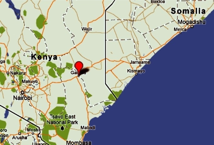 Garissa is a town in Kenya located close to the Somalian border