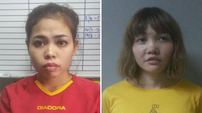 Siti Aisyah (left) and Doan Thi Huong were charged with the murder of Kim (Photo: CNN)