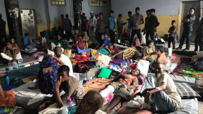 Conditions at the Chittagong Hospital are strained to capacity due to the influx of refugee Rohingya patients (Photo: CNN)