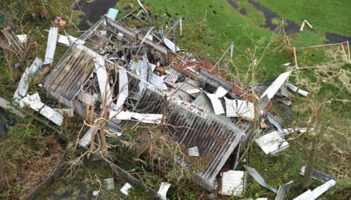 A shack destroyed in San Juan, Puerto Rico, on Thursday (Photo: Hector Retamal)