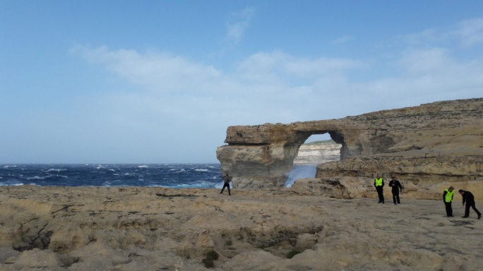 Photo of the Azure Window snapped on 7 March. Photo: Martha M G/Facebook