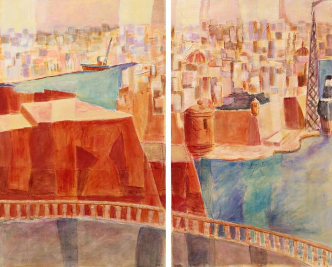 The three cities, diptych 1994