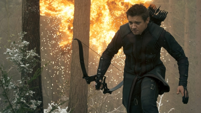 Jeremy Renner as Hawkeye in the superhero dream-team sequel Avengers: Age of Ultron