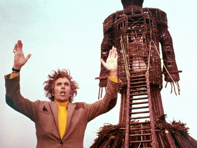 Genial but sinster: The late, great Christopher Lee gives a career-best performance as The Wicker Man's Lord Summerisle