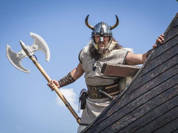 A Viking roof-tiler.