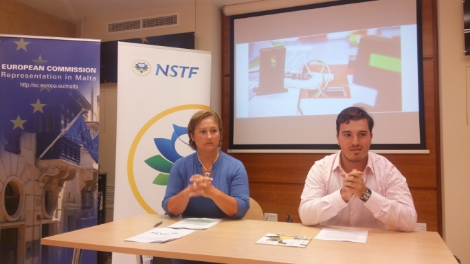 MEP Therese Comodini Cachia and NSTS Programmes Administrative Co-ordinator Stefan Cutajar