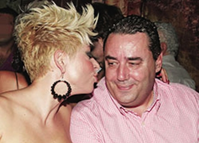 Ioannis Moustos has told Greek television that CapitalOne was owned by his ex-wife (left) the TV star Anna Maria Logothetis, which means she could have been hiding his real ownership