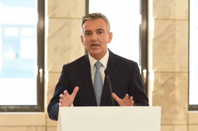 Simon Busuttil addressed the press conference from the House of Representatives. Photo: James Bianchi