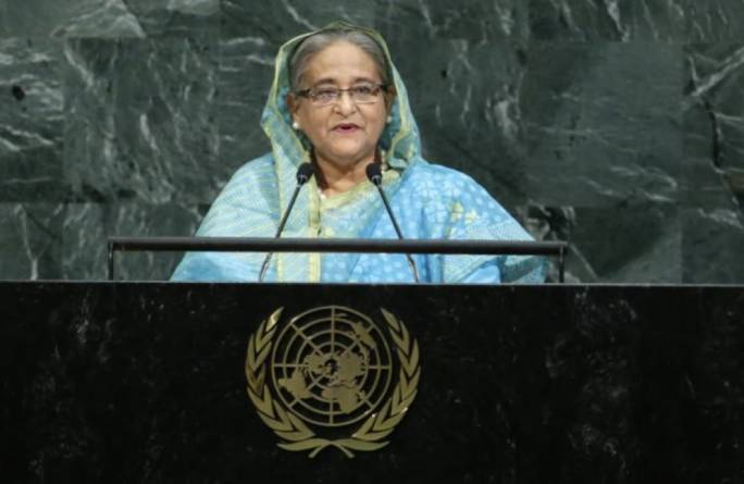 Bangladesh PM speaks at the UN General Assembly (Photo: Dhaka Tribune)