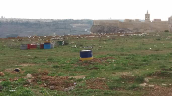 Waste at Gelmus Hill has been abandoned following the St. Mary's feast fireworks.