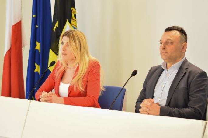 PN shadow minister for the economy Kristy Debono and MP Ivan Bartolo