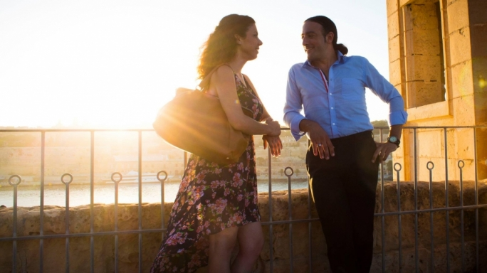 Odd couple: It's class-crossed lovers time with Ramon (Aldo Zammit) and Sophie (Maria Pia Meli) in Malta's first big-screen romantic comedy