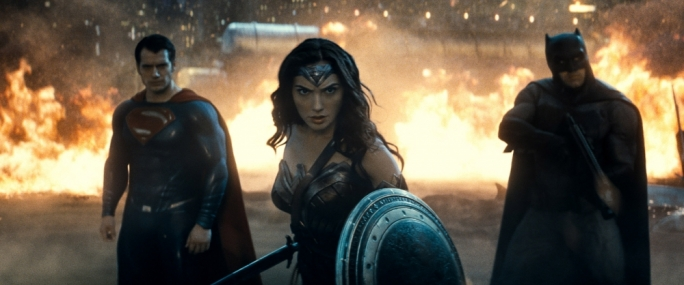 Super friends: Henry Cavill, Gal Gadot and Ben Affleck are Superman, Wonder Woman and Batman in DC Comics's latest franchise-building block of a film