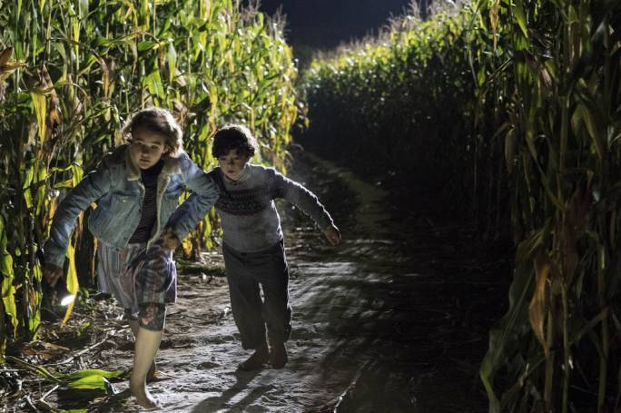 Children of the corn: Millicent Simmonds and Noah Jupe attempt to evade the gnashing clutches of sound-sensitive killer aliens in John Krasinski's tense and impressive debut