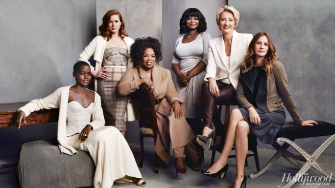 At the last actresses roundtable, The Hollywood Reporter interview featured Oprah, Julia Roberts and Lupita Nyong'o