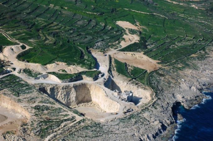 Ta' Muxi quarry in Gozo