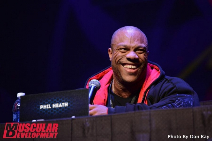4X Mr. Olympia was all smiles during the press conference. Photo by Muscular Development