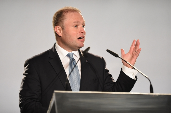 Prime Minister Joseph Muscat addressing members of the media (Photo: Ray Attard)