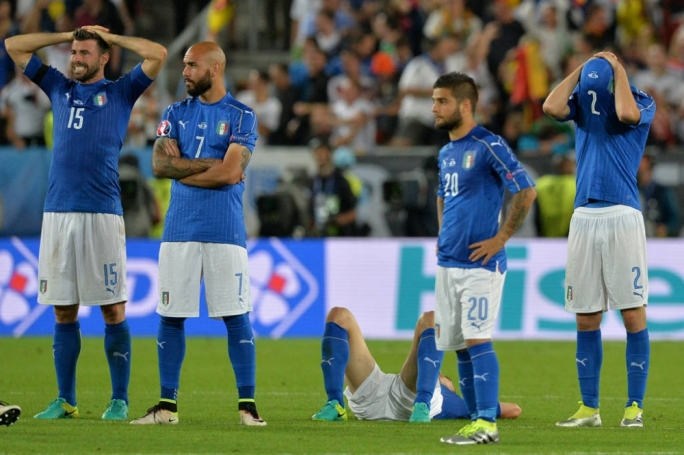 Italy were eliminated from UEFA Euro 2016 after a penalty shoot-out against Germany